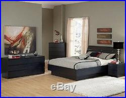 Black Bedroom Furniture Dresser Drawer Nightstand 5 Chest 6 Dressers Full Queen