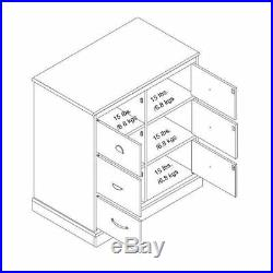 Black Wooden 6 Drawer Dresser Chest Doors Modern Extra Storage Bedroom Furniture