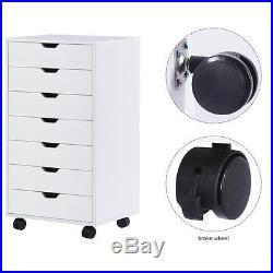 Chest Cabinet Dresser 7 Drawers Storage Wheels Home Closet Bedrooms Organizer