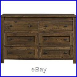 Chest of Drawers 6 Drawer Dresser Vintage Rustic Distressed Farmhouse Barn Wood