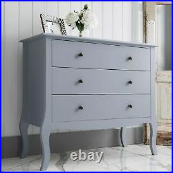 Chest of Drawers Bedside Cabinet Camille in Grey