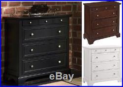 Chest of Drawers Dresser Cherry White Black Dressers Wood Bedroom Furniture Den