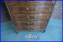 Chest of Drawers Tall Chest Highboy French Provincial Dresser by Henredon