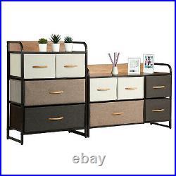 Chest of Fabric Set Drawers Dresser Cabinet Bedroom Storage Tower Bins Organizer