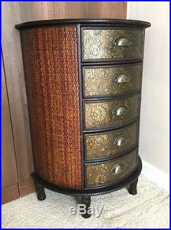 Chinese Chest of Drawers Storage Unit Oriental Antique Style Furniture Dark Wood