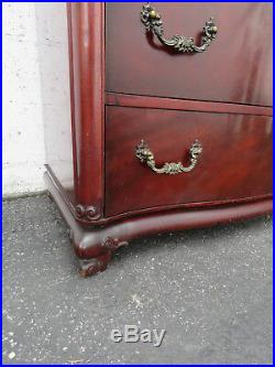 Chinese Chippendale Mahogany Tall Chest of Drawers by Hellam Furniture 9300