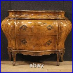 Commode Venetian furniture dresser chest of drawers walnut wood antique style