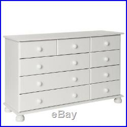 Copenhagen Cheap White Large Wide 2+3+4 9 Drawer Chest of Drawers Unit
