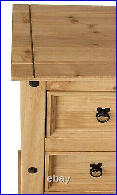 Corona 3 Drawer Chest of Drawers, Mexican Solid Pine, Rustic