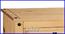 Corona Chest of Drawers Pine 6 Drawer Solid Pine Mexican Wax Finish Sideboard