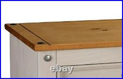 Corona Grey Chest of Drawers Pine 6 Drawer Solid Pine Mexican Wax Sideboard