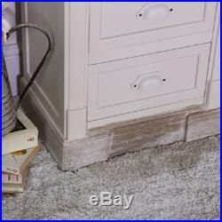 Cream painted 5 drawer tallboy chest shabby french chic furniture bedroom home