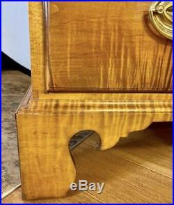 Custom Charles Dewey Tiger Maple Dresser Chest Of Drawers Bennington Vermont