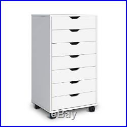 DEVAISE 7 Drawers Chest Storage Dresser Cabinet with Removable Wheels Classic
