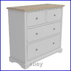 Darley Two Tone Chest of Drawers in Solid Oak and Light Grey