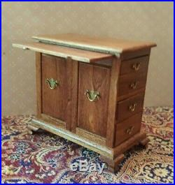 Dollhouse miniature very rare 18th c. Chest of 8 drawers by Jim Hall, signed