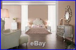 Dresser 5 Drawer Bedroom Chest Tall Mirrored Chest of Drawers Florentine