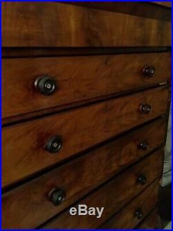 Dresser 6 Drawers, Antique Scottish Chest, 64 high, 24 Deep, 53 Wide
