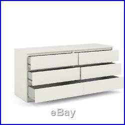 Dresser Cabinet Clothes Storage Chest Organizer 6-Drawer Home Bedroom Furniture