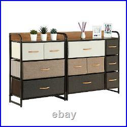 Dresser Cabinet Set Chest of Fabric Drawers Bedroom Storage Tower Bins Organizer