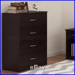 Dresser Chest 4 Drawer Bedroom Storage Modern Wood Furniture Brown Coffee