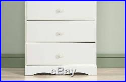 Dressers with Drawers Baby Furniture Chest Wood 4 Drawer Girls Kid Bedroom White