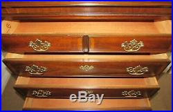 Drexel 18th Century Collection Banded Mahogany Chest, High Dresser, 7 Drawers