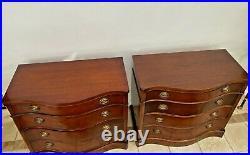 Drexel Nightstands Vintage PAIR Mahogany Cedar lined large Bedside chests