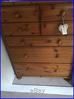 Ducal Victoria chest of 7 drawers pine Height 115 Width 87 Depth 45 approx