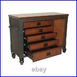 Duramax 48 in. 5-Drawers Rolling Tool Chest with Wood Top for Home and Garage
