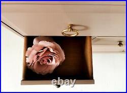 Dusky pink Stag Minstrel Tallboy Chest of Drawers Urban / Boho / Industrial
