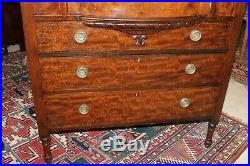 Edwardian Antique Inlaid Mahogany Chest Of Drawer Gentlemens Cabinet, Sideboard