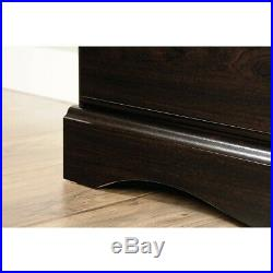 Espresso 4 Drawer Wooden Dresser Chest Drawers Clothes Storage Bedroom Furniture