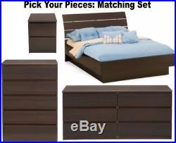 Espresso Bedroom Furniture Dresser Drawer Nightstand Chest Dressers Full Queen