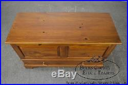Ethan Allen Country Craftsman Solid Pine Lidded Blanket Chest with Drawer