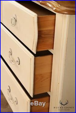 Ethan Allen Country French White Painted Chest of Drawers