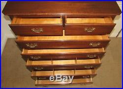 Ethan Allen Georgian Court Cherry Chest On Chest, 7 Drawer High Dresser, 11-5225