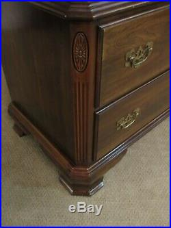 Ethan Allen Georgian Court Cherry Chest On Chest, 7 Drawer High Dresser 11-5225