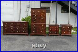 Extra Tall Flame Mahogany Chest of Drawers by Hickory Chair Company 1688