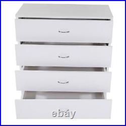 FCH Chest of Drawers Dresser 4 Drawer Furniture Cabinet Bedroom Storage WHITE