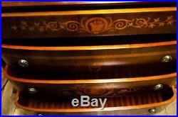 Fine Quality Inlay Mahogany Dresser Chest Of Drawers