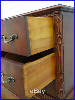Flame Mahogany Bombe Tall Ball and Claw Feet Chest of Drawers 9673A