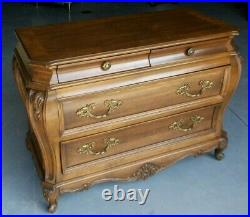 French 4 Drawer Bombe Chest