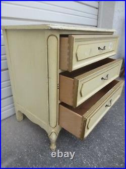 French Bachelor Chest 3 drawers Dresser Nightstand Provincial Hollywood Regency