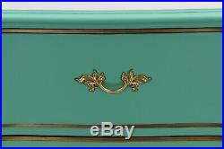 French Provincial Chest of Drawers, Pastel Green Lingerie Chest, Shabby Chic