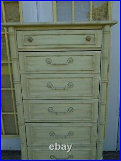 Fretwork Lingerie Chest of Drawers Faux Bamboo Thomasville Tall dresser Allegro