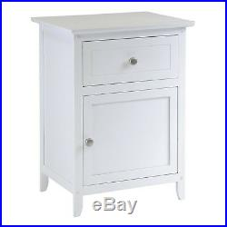 Full Size Bedroom Set White Leather Platform Bed 2 Nightstands 4 Drawer Chest