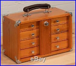 Gerstner International 4 Full Width Drawer Mini Portable Oak Veneer Tool Chest