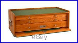 Gerstner International GI-M24 Tools, Collections & Jewelry 3-Drawer Wood Chest