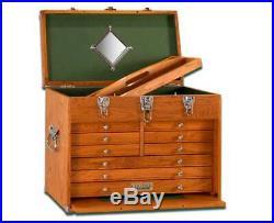 Gerstner International GI-T20 9 Drawer Oak/Veneer Chest Tools Hobby FREE SHIP